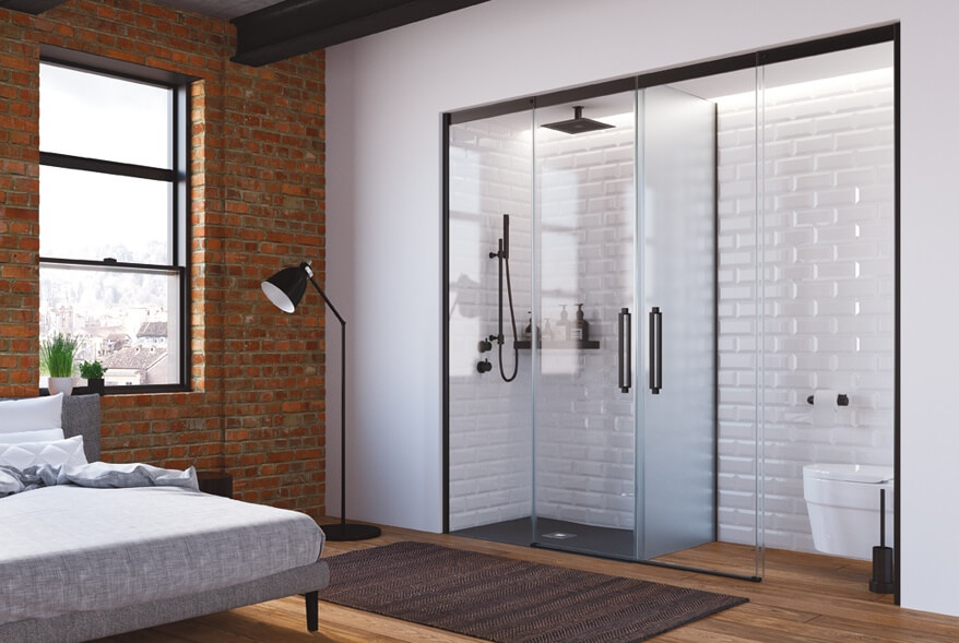 mampara ducha PROFILTEK especial separador wc