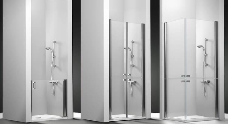 modelos de mamparas de ducha disponibles en nuestra serie PMR Asistencial