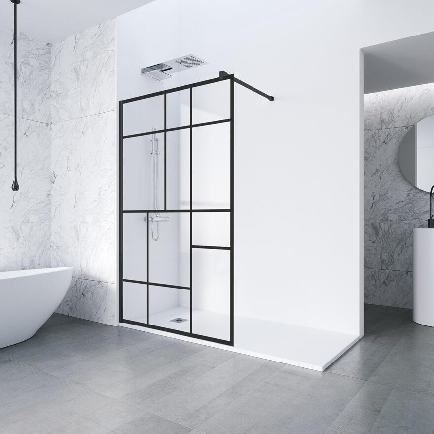 douche italienne avec cloison top coin douche duune suite parentale avec verrire en bois massif. Black Bedroom Furniture Sets. Home Design Ideas