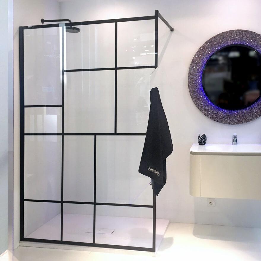 divisória de duche à medida para duche italiano da PROFILTEK