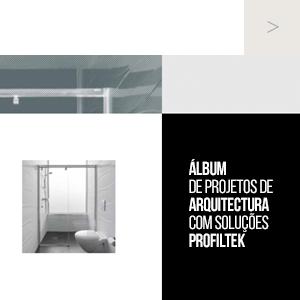 Álbum de projetos de arquitetura com soluções PROFILTEK
