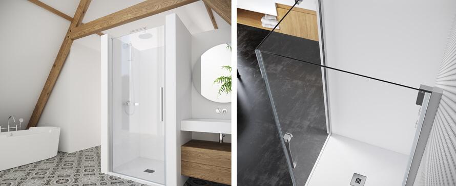Keisy y Magna, nuevas series de mamparas de baño a medida de PROFILTEK