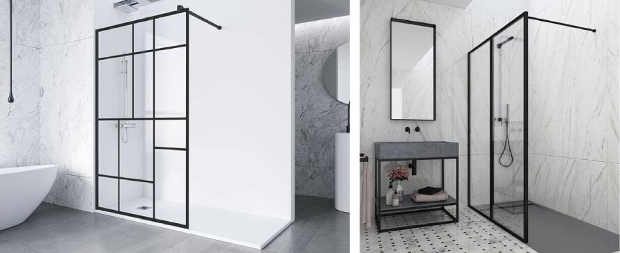 L'esthétique industrielle est finalement disponible pour les parois de douche avec PROFILTEK