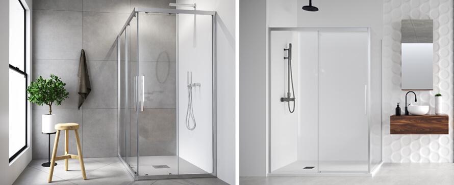 Nouvelles parois de douche coulissantes sur mesure de PROFILTEK, Dasha et Elma