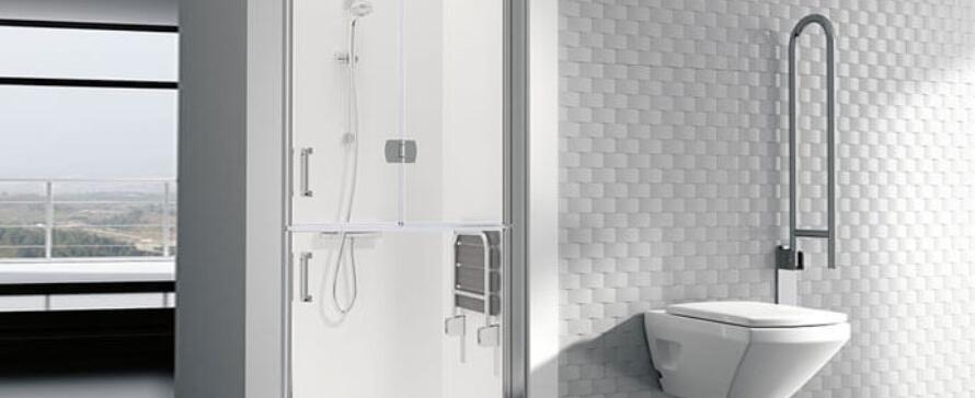 A segurança como elemento principal do espaço de banho