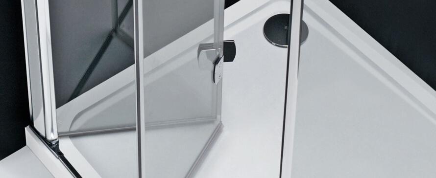 Porta de duche: selecionar a funcionalidade de abertura