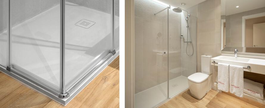 Resguardo de duche de vidro para os seus projetos Contract